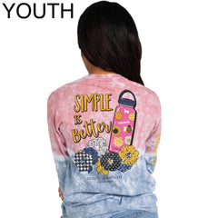 Youth 'Simple Is Better' Tie Dye Long Sleeve Tee by Simply Southern