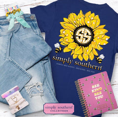 Youth 'Simply Bee Happy' Sunflower Short Sleeve Tee by Simply Southern