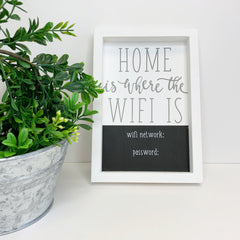 Home Is Where The Wifi Is' Chalk Board Plaque by Mud Pie
