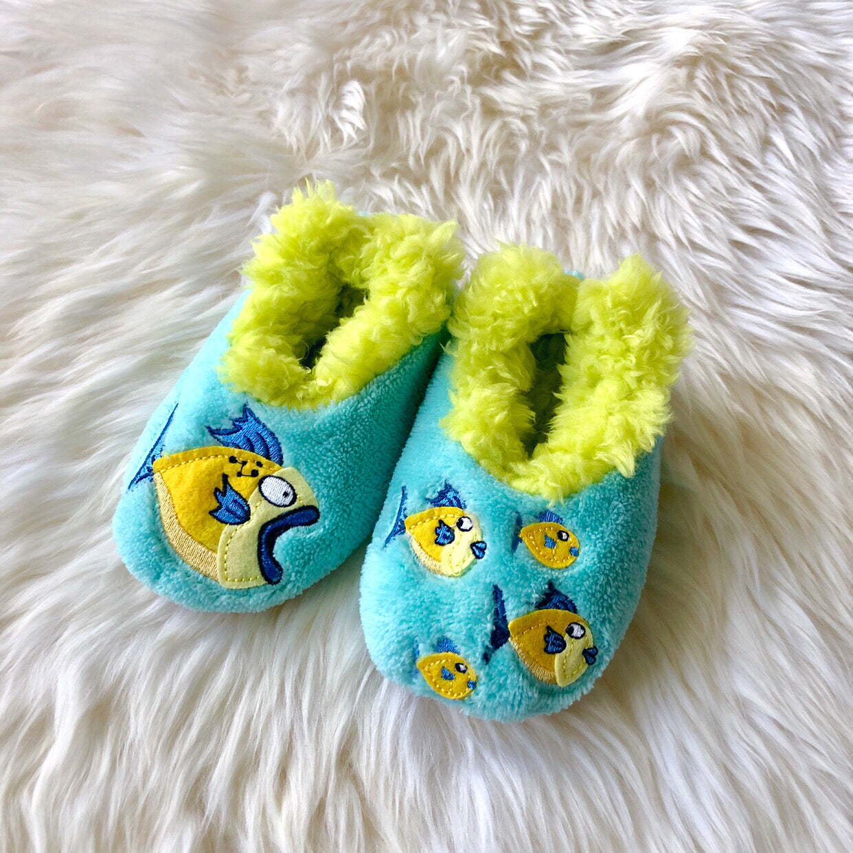 9034a731e32 Toddler Snoozies! Slippers - Big Fish Little Fish – Prep Obsessed