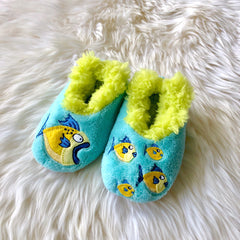 66751a4cdfa1 Toddler Snoozies! Slippers - Big Fish Little Fish