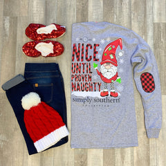 'Nice Until Proven Naughty' Long Sleeve Tee by Simply Southern