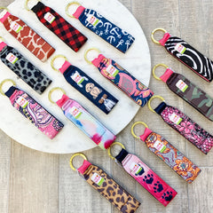 Printed Lip Balm Key Fob by SS - Choice of Style