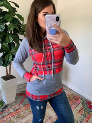 Plaid Hoodie by Simply Southern