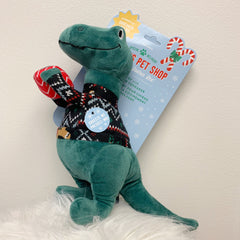 Sweater-Saurus Rex Dog Toy