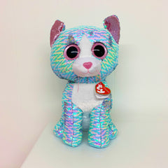 Flippables Whimsy the Sequin Blue Cat by TY - Large