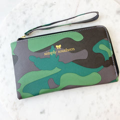 Camo Wristlet Wallet by Simply Southern