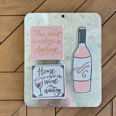 Blush Wine Magnet Set by PBK
