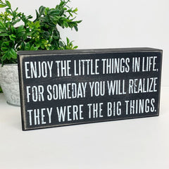 Little Things' Box Sign