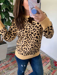 Leopard Sweater by Simply Southern