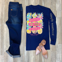 'She Believed She Could' Pineapple Long Sleeve Tee by Simply Southern