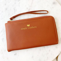 Tan Wristlet Wallet by Simply Southern