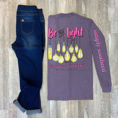'Be the Light' Long Sleeve Tee by Simply Southern