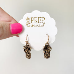 Antique Pineapple Dangle Earrings