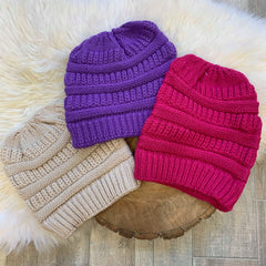 Ponytail Beanie - Choice of Color