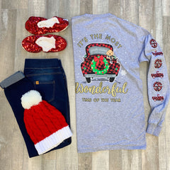 'Most Wonderful Time of Year' Long Sleeve Tee by Simply Southern