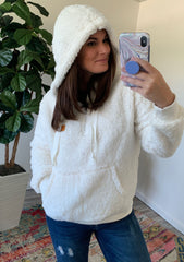 Ivory Hooded Sherpa by SS