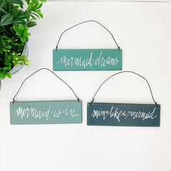 Mermaid Hanging Signs by PBK - Set of 3