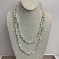 Juliana Long Necklace - Pearly White