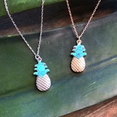 Final Sale: Lydia Pineapple Necklace- 2 Colors Available