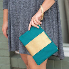 Teal Cabana Wristlet (3-4 Week Production Time)