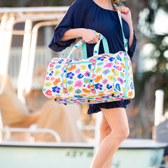 Bright Multi Leopard Duffel Bag