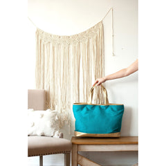 Teal Cabana Tote (3-4 Week Production Time)