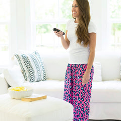 Hot Pink Leopard PJ Pants