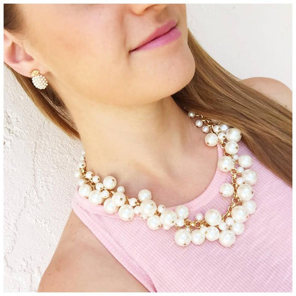 molly pearl bauble necklace