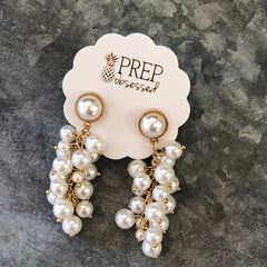 Molly Pearl Bauble Earrings by Prep Obsessed