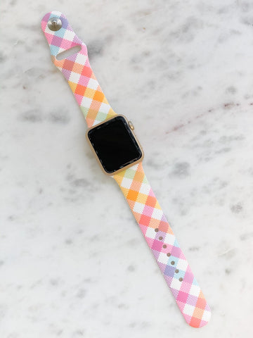 Smartwatch Band Gingham Print