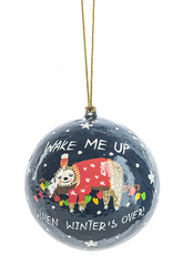 Sloth Ball Ornaments - Wake Me Up