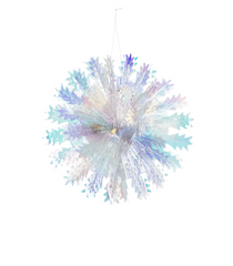 Small Multi Iridescent Snowflake Ornament