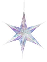 Small Iridescent Snowflake Ornament