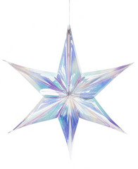 Large Iridescent Snowflake Ornament
