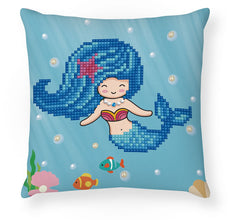 'Pearl Swimmer' Diamond Facet Art Mini Pillow Cover Kit