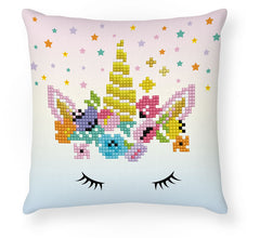 'Flower Crown' Diamond Facet Art Mini Pillow Cover Kit