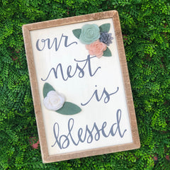 'Our Nest is Blessed' Box Sign by PBK