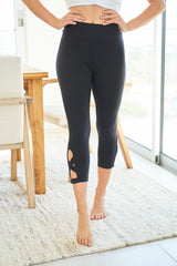 Black Capri Knit Leggings