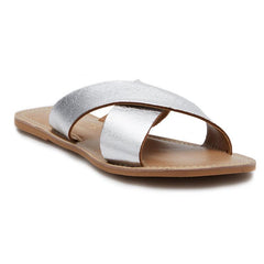 Pebble Cross Strap Sandals