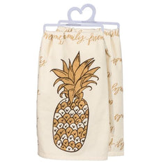 Pineapple Dish towel by Primitives by Kathy