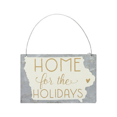 'Home For The Holidays' State Tin Ornaments
