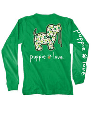 Shamrock Pup Long Sleeve Tee by Puppie Love