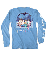 'Ski Lift Pups' Long Sleeve Tee by Puppie Love