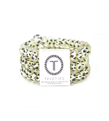 Teleties Hair Tie - Large Band Pack of 3 - Snow Leopard