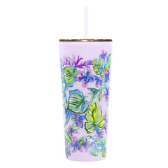 Acrylic Tumbler with Straw by Lilly Pulitzer - Mermaid in the Shade