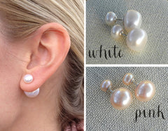 Freshwater Pearl 360 Studs - Sterling Silver