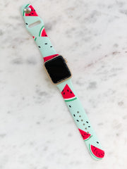 Watermelon Printed Silicone Smart Watch Band
