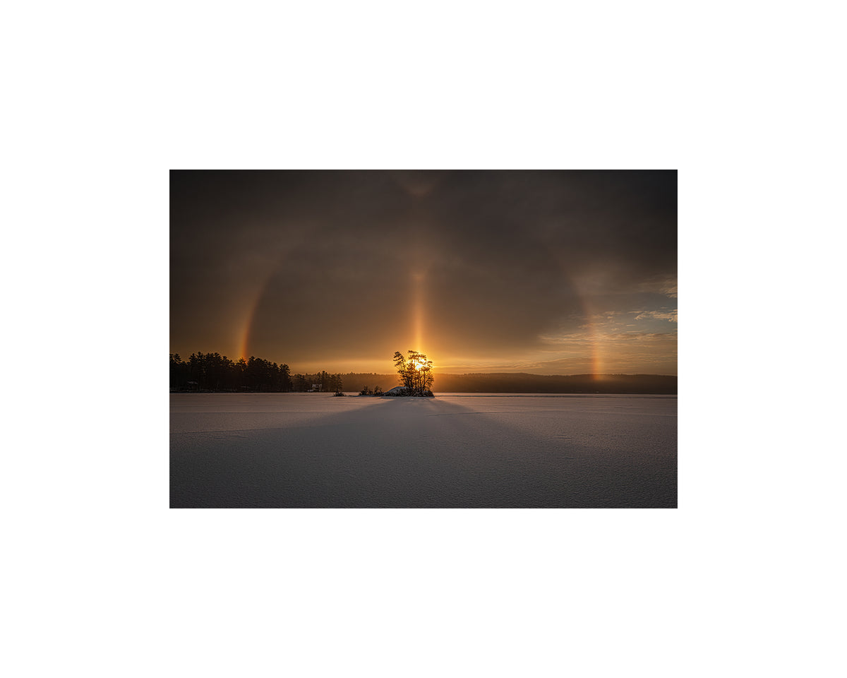 Moose Pond Sun Halo, January 22 2021