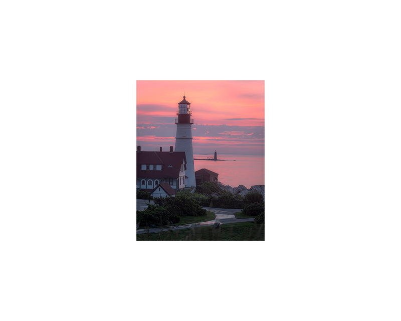 Portland Head Light Sherbet Sunrise
